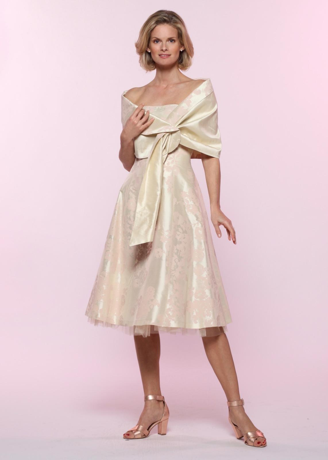 Robe de cocktail style princesse imprimée FOUGERE
