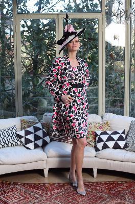 Outfit in Silk : Coat Kelly Ilaria in printed Silk  size 48