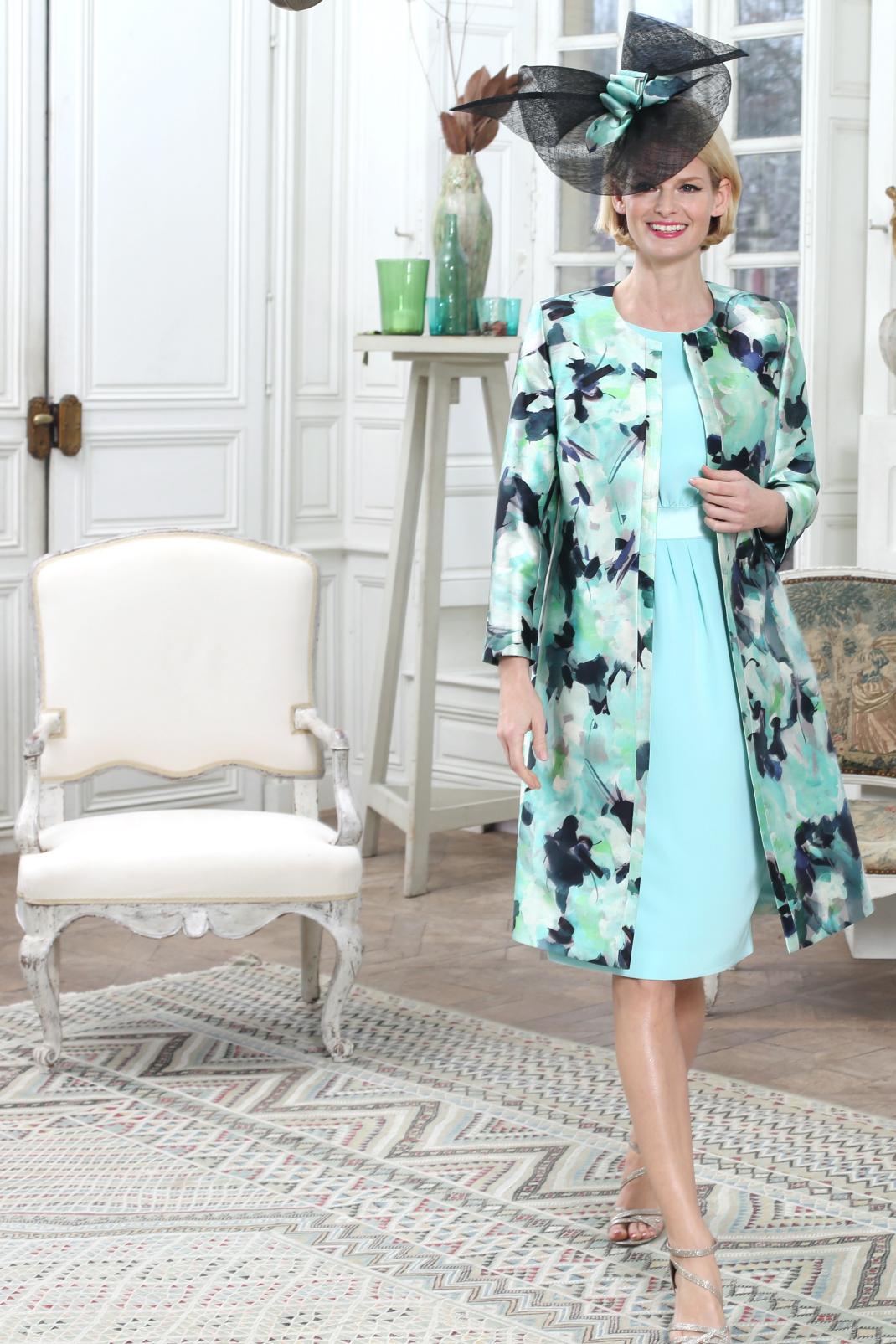 manteau mariage imprim tenue femme c r monie habill e. Black Bedroom Furniture Sets. Home Design Ideas